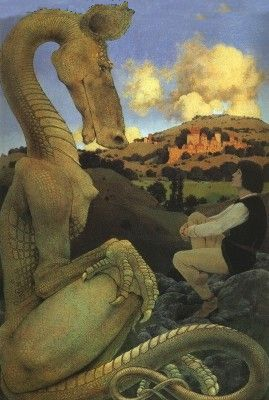 Image of painting by Maxfield Parrish